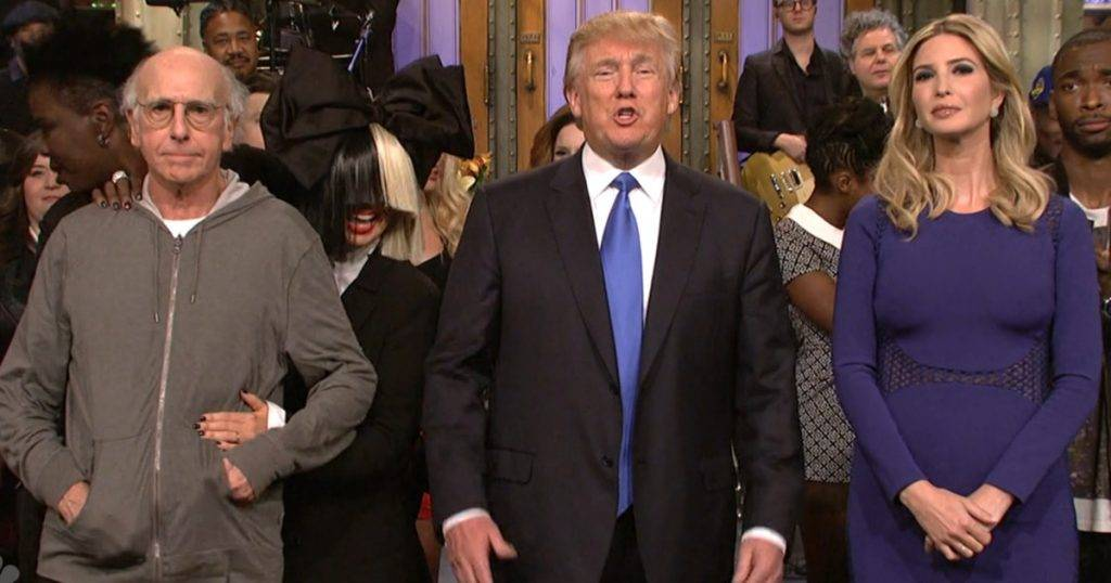 Larry David y Donald Trump en SNL